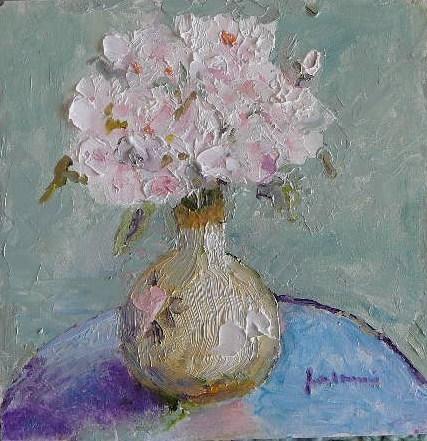 """""""French Roses~~~Italian Vase"""" original fine art by Jane Morac'E"""