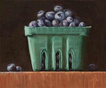 """Summer Blueberries   &   Palm Beach Art Show reminder"" original fine art by Abbey Ryan"