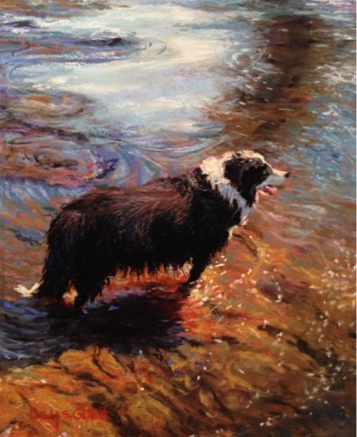 """Cooling Off"" original fine art by Cindy Gillett"
