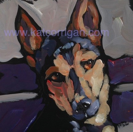 """Shadowed Glance"" original fine art by Kat Corrigan"