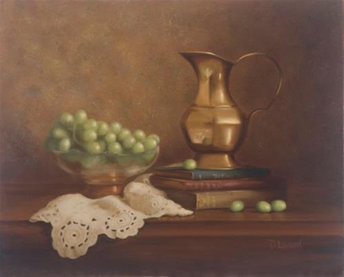"""A Drink From The Vine #501"" original fine art by Dee Lessard"