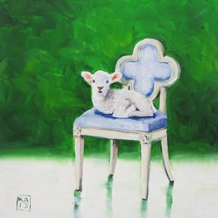 """sheepish"" original fine art by Kimberly Applegate"