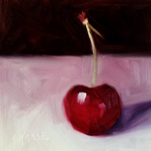 """Sherry Cherry"" original fine art by Cindy Haase"