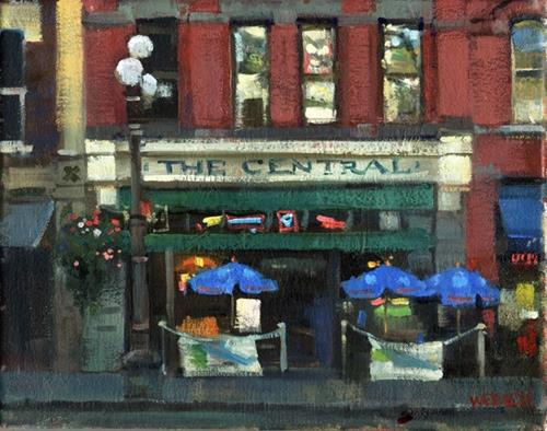 """The Central"" original fine art by Kathy Weber"