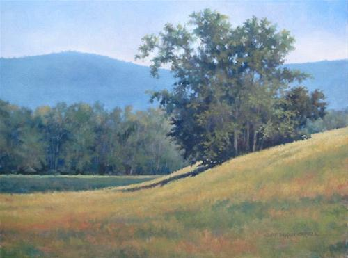 """AUGUST FIELDS An Original Oil Painting  by Claire Beadon Carnell"" original fine art by Claire Beadon Carnell"