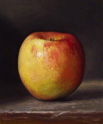 """Apple No. 8"" original fine art by Abbey Ryan"