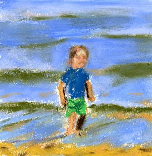 """Joy By The Water"" original fine art by Donna Crosby"