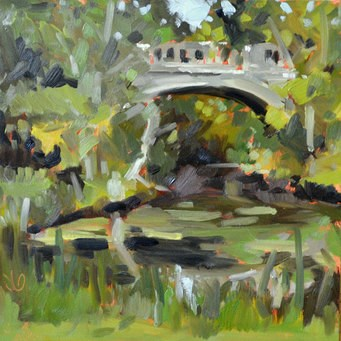 """State Park Bridge I"" original fine art by Jessica Green"