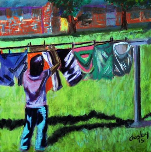 """Housework Sister"" original fine art by Donna Crosby"