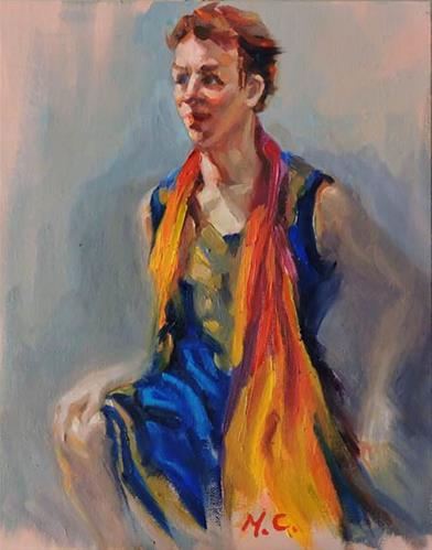 """""""Colourful Dress"""" original fine art by Michelle chen"""