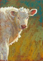"""4 New Little Cows"" original fine art by Rita Kirkman"