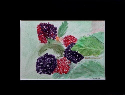 """Blackberries"" original fine art by Mary Datum"