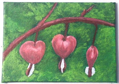 """Bleeding Hearts"" original fine art by Amy VanGaasbeck"
