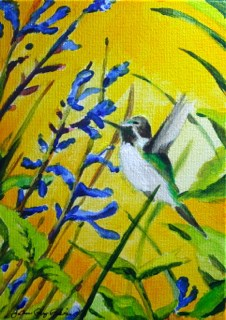 """Morning Buzz"" original fine art by JoAnne Perez Robinson"