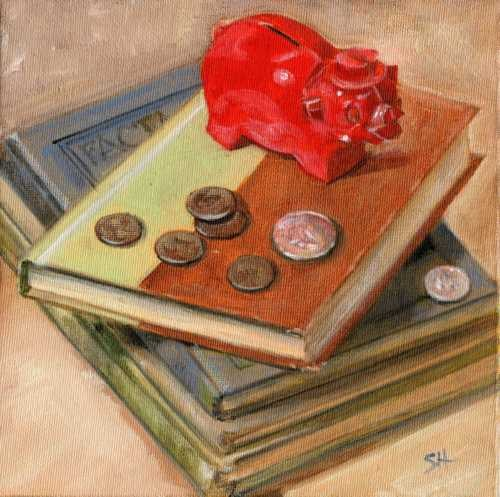 """A Penny Saved"" original fine art by Sandy Haynes"