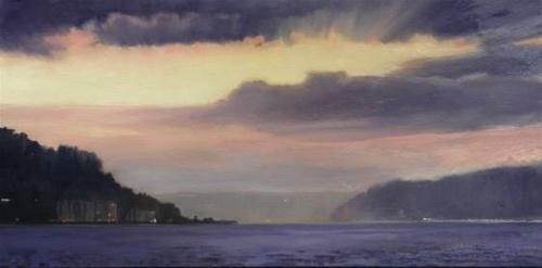 """""""Alki Point Seattle landscape,oil painting by Robin Weiss"""" original fine art by Robin Weiss"""