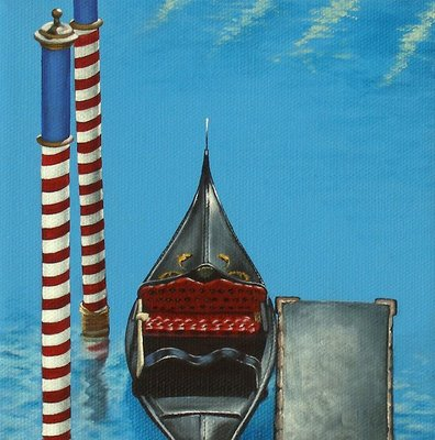 """2 of 4 - Gondola Commission"" original fine art by Jelaine Faunce"