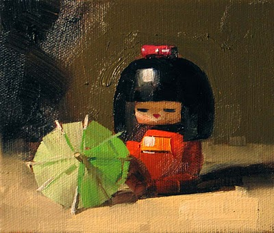 """Japanese Doll --- Sold"" original fine art by Qiang Huang"