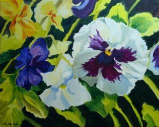 """Purple Face"" original fine art by JoAnne Perez Robinson"