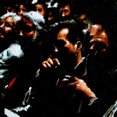 """Inside The Theater- People Enjoying A Performance In Theater"" original fine art by Gerard Boersma"