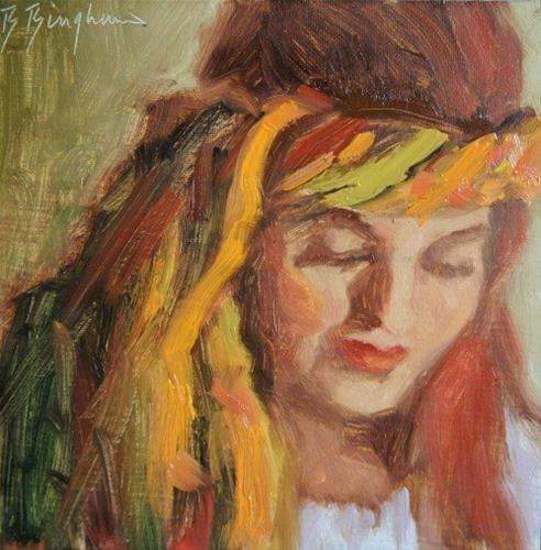 """The Scarf"" original fine art by Bruce Bingham"