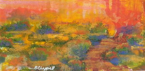 """Desert Sunset"" original fine art by Becky Chappell"