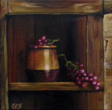 """In The Old Cupboard"" original fine art by ~ces~ Christine E. S. Code"