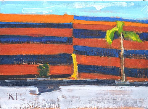 """Termite Tent Motel Painting"" original fine art by Kevin Inman"