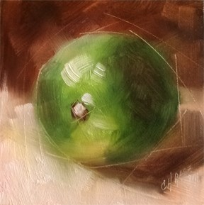 """Lime"" original fine art by Cindy Haase"