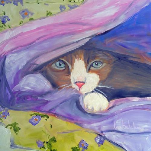 """My Secret Place"" original fine art by Lou Belcher"