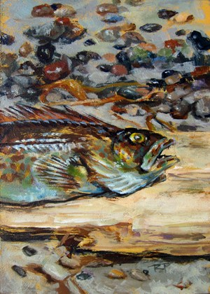 """Go Fish"" original fine art by Robin Peterson"