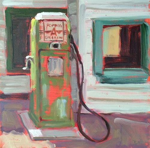 """Old Pump"" original fine art by Deborah Newman"
