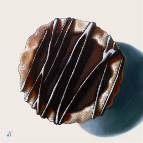 """Chocolate Tart Study"" original fine art by Jelaine Faunce"