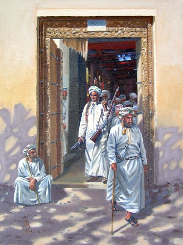 """Gunseller, Nizwa, Oman"" original fine art by Alix Baker"