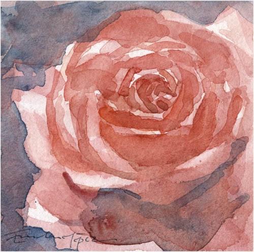 """""""flores 20"""" original fine art by Emilio López"""