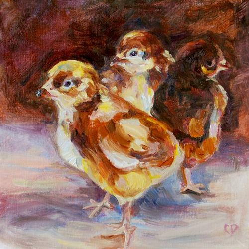"""The Chicks"" original fine art by Carol DeMumbrum"