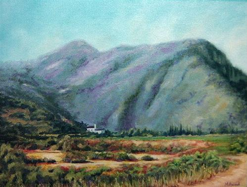 """Saint Moussa Valley, Lebanon"" original fine art by Maria Levandowski"