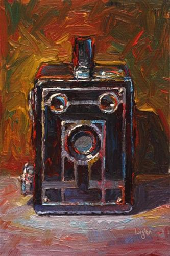 """Target Brownie Six-20 Camera"" original fine art by Raymond Logan"