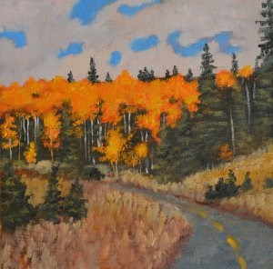 """Road to Santa Fe"" original fine art by Robert Frankis"