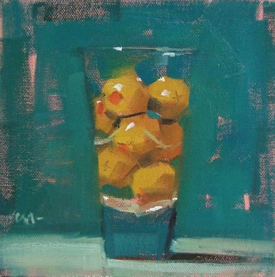 """Olive Shot"" original fine art by Carol Marine"