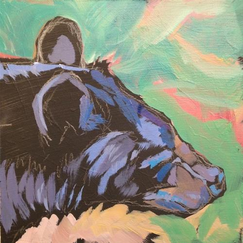 """Bearly Bearable"" original fine art by Kat Corrigan"