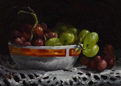 """""""Grapes 130208"""" original fine art by Sue Deutscher"""