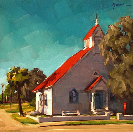 """Holy Corner"" original fine art by Karin Jurick"