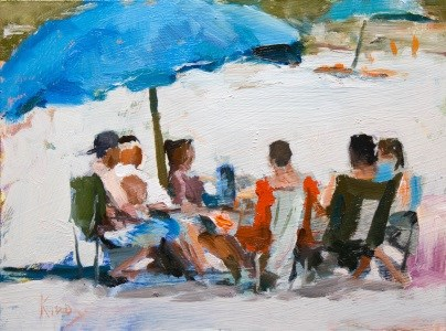 """Lounging at the Beach"" original fine art by Randall Cogburn"