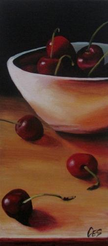 """Cherry Arrangement"" original fine art by ~ces~ Christine E. S. Code"