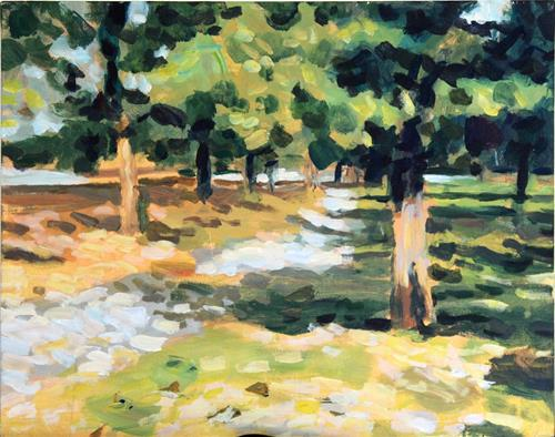 """Britannia Trees"" original fine art by Elbagir Osman"