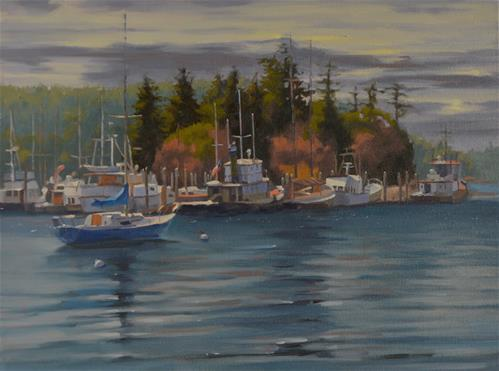 """Orcas Island Morning"" original fine art by John White"