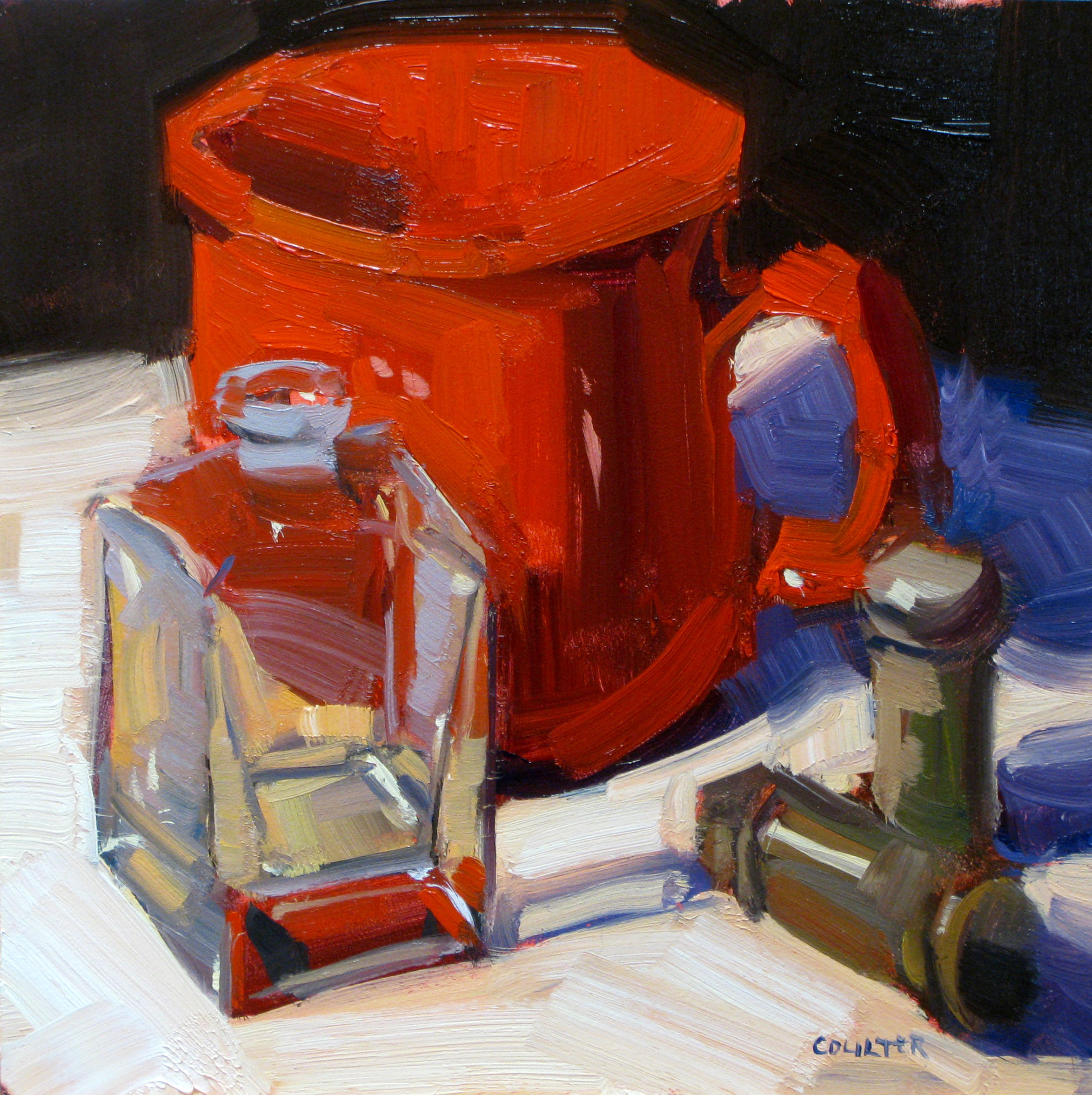 """Red Cup"" original fine art by James Coulter"
