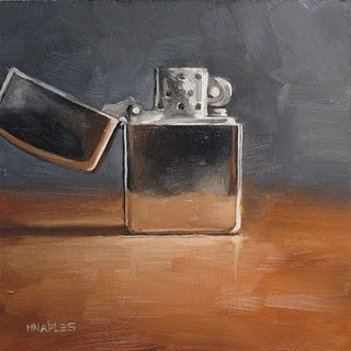 """Zippo"" original fine art by Michael Naples"