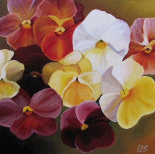 """Pansies"" original fine art by ~ces~ Christine E. S. Code"